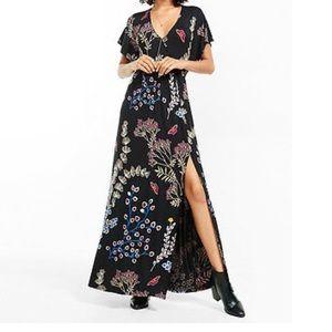 Express black maxi dress